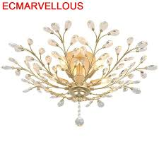 For Living Room Colgante Moderna <b>Lamp Sufitowe Plafon</b> Crystal ...