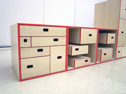 furniture smart kids storage furniture design with red and white