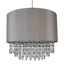 modern easy fit drum shade silver fabric ceiling pendant light shade chandelier