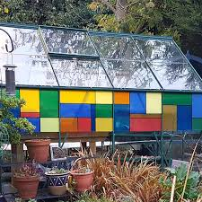 thorndown translucent lable glass paint on lindas greenhouse