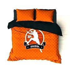 basketball comforter sets twin personalized bedding orange dots custom duvet or nba comfo