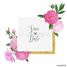 Romantic Date Invitation Template Floral Wedding Invitation Template Save The Date Card With Blooming