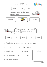 Free interactive exercises to practice online or download as pdf to print. 5740 1 Ai Words Phonics Worksheets Kindergarten Jolly For Free Jaimie Bleck