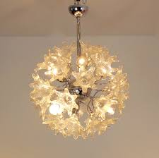 sophisticated venini murano glass chandelier for veart italy 60s