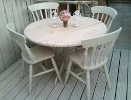 shabby chic round dining table and chairs solid pine chic round table and chairs farrow and