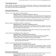 Medical Nurse Sample Resume Examples Of Resumes For Nurses Fred Resumes 10
