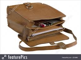 old leather school bag