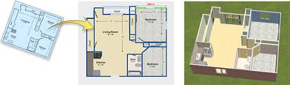 Image Interior Design Use Trace Mode To Import Existing Floor Plans Nch Software Download Home Design Software Free 3d House Plan And Landscape