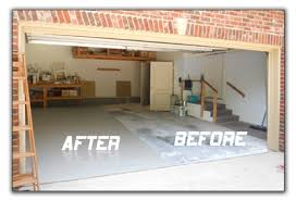garage floor paint before and after.  After Epoxy Garage Floor Paint Before And After And O