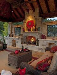 dallas mexican fireplace patio traditional with covered seating storage ottomans outdoor living