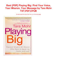 Voice Chart Pdf Best Pdf Playing Big Find Your Voice Your Mission Your