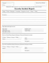 017 Template Ideas Generic Incident Report 20incident20rt