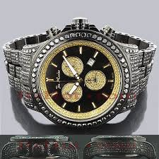 men s diamond watches save 50 80% on diamond wrist watches mens black diamonds watch 26 7ct joe rod