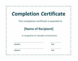 Certificate Of Completion Training Impressive 48 Fantastic Certificate Of Completion Templates [Word PowerPoint]