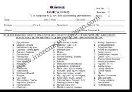 Carnival Medical Form