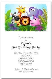 Safari Party Invitations Animal Themed Birthday Party Invitations Under Fontanacountryinn Com