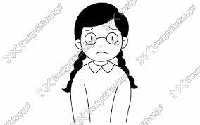 哀しむまじめな女子小学生 Cst106m イラスト素材集写真素材集