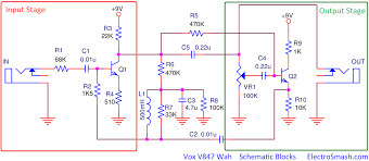 electrosmash vox v847 analysis the v847 simple schematic can be broken down into two blocks input stage and output stage