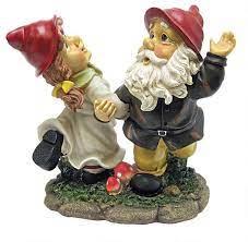 dancing couple italian gnome statues