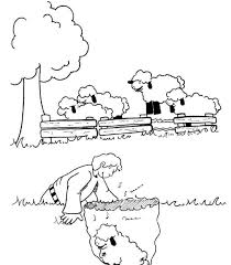 Small Picture Parable Of The Lost Sheep Coloring Page Coloring Home