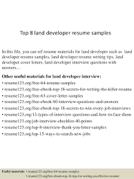 Developer Resume Examples Amazing Top 48 Land Developer Resume Samples