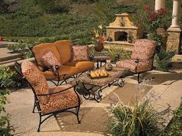 Awesome Wrought Iron Patio Table And 4 Chairs and Black Wrought Iron