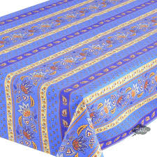 french coated tablecloths round