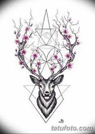 эскиз тату олень 23022019 059 Sketch Tattoo Deer Tatufotocom