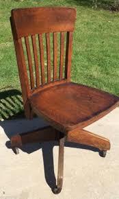 vintage wooden office chair. antiquevintage oak woodcastiron swivel office desk chair industrialprimitive vintage wooden
