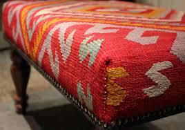 kilim ottoman from the marlborough rug company