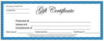 Gift Certificate Template Microsoft Word