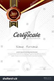 Certificate Layout Design Template Vertical Certificate Layout Design Template Design Stock