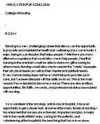 be a nurse essay why be a nurse essay