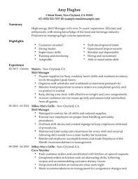 Best Restaurant Shift Manager Resume Example Livecareer