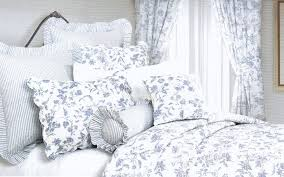 blue toile bedding eloquent touch home design classic french baby beige and green sheets king duvet