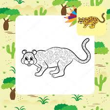 Illustration Vectorielle De L Opard Livre De Coloriage