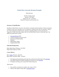 Objective For Resume Sales Associate Writing Resume Retail Resume