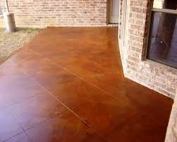 Awesome Exterior Stained Concrete Patio For Your Lovely Backyards
