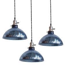 blue mercury glass pendant lights at