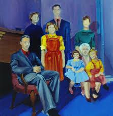 portrait painting family portrait painted 1977 by nancy griswold