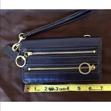 NWOT Coach Poppy leather wallet clutch
