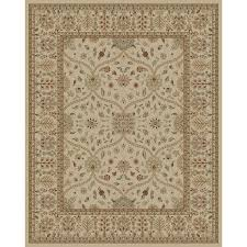 style selections hangsinger ivory indoor oriental area rug common 8 x 10 actual