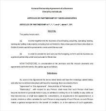 Sample Partnership Agreement Form 21 Partnership Agreement Templates Free Sample Example