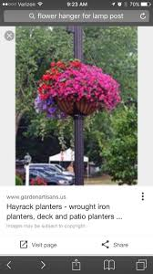 Flower Basket For Lamp Post Gardening Containers Container