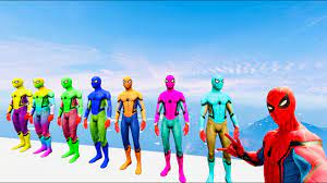 Hulk vs Spiderman - 7 anh em siêu nhân nhện đua xe ô tô , nhạc thiếu nhi  siêu nhân vui nhộn GTA5 - YouTube