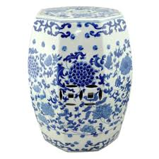 chinese garden stool. Ceramic Stool Hexagon - Blue White Peony | Chinese Coin Stools Hong Kong Home Essentials Garden