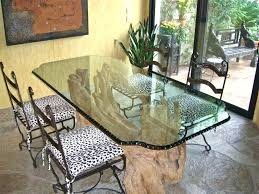 round glass dining table top dining tables chipped and polished edge by sans round glass top