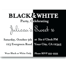 birthday invitations samples free birthday invitations templates inspirational black and white