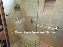 frameless shower door handle installation upgrade your shower glass panels with luxury towel bar towel bars are overture bathroom ideas modern small