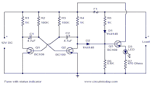 fuse status indicator electronic circuits and diagram fuse status indicator
